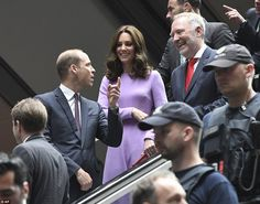 Kate and William could be seen chatting to their hosts as they prepared to wave goodbye to the German capital on Friday. On arrival in Hamburg this afternoon, the Duke and Duchess will celebrate the joint UK-German year of science