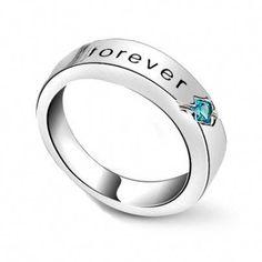 5fa0c2517 Cubic Zirconia Silver Promise Rings for Girlfriend Custom Engraved  #promiserings Silver Promise Rings, Promise
