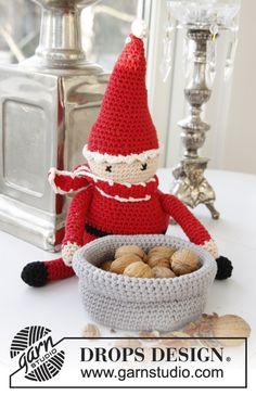 "A Christmas Carol - Gehäkelter DROPS Weihnachtsmann in ""Paris"". - Free pattern by DROPS Design"