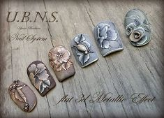 #ujvaribarbara #nailart #nails #handmade #salonnail#metaleffect#antique#acrylicnails