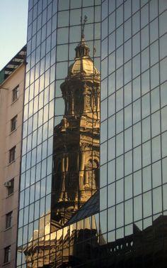 New John Hancock Tower, by I.M. Pei....reflecting Boston