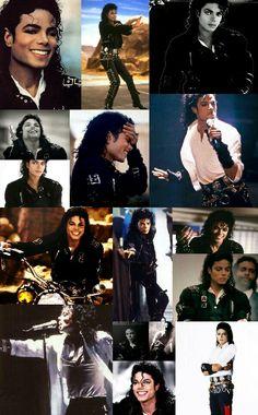 Michael Jackson bad oufit collage