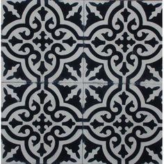 B & W moroccan tile