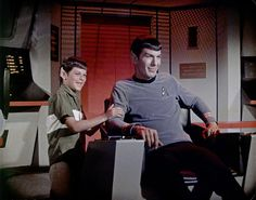 Leonard and Adam Nimoy on Bridge. Makes me smile