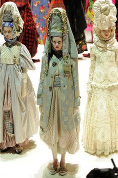 Russian doll meets Peruvian sheppardess meets Japanese geisha