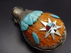 Vintage KEWA Hand-Stamped Sterling Silver CANTEEN FLASK Turquoise & Spiny Shell | Jewelry & Watches, Ethnic, Regional & Tribal, Native American | eBay!