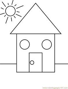 Printable worksheets for kids Geometric Shapes 75 Shape Coloring Pages, Coloring Pages For Kids, Kids Coloring, Adult Coloring, Coloring Books, Shapes Worksheets, Worksheets For Kids, Printable Worksheets, Art Drawings For Kids