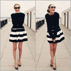 Black/White Skirt