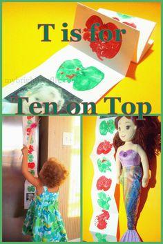 T is for Ten on Top. Preschool Math.