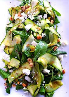 Zucchini Ribbon Salad #HealthyLiving #HealthyEating #Summer #Recipes #EatClean