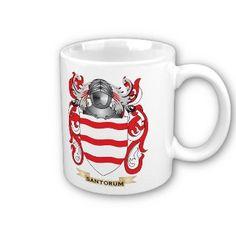 Santorum Coat of Arms (Family Crest) Coffee Mug