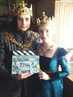 """I loved the mini-series """"The White Queen.""""  This is a pic of the actors who played Richard III and Anne Neville."""