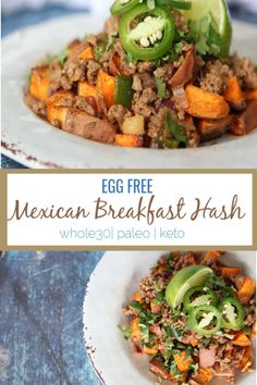 This Mexican breakfast hash is a perfect change up from the regular breakfast routine and is a perfect egg free breakfast for meal prepping throughout the week. Whole 30 Breakfast, Breakfast Hash, Mexican Breakfast, Free Breakfast, Paleo Breakfast, Breakfast Recipes, Breakfast Ideas, Cheap Clean Eating, Clean Eating Snacks