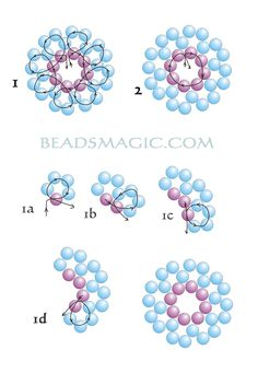 Free pattern for beautiful earrings Mermaid. U can use pearl beads 2 – 4 mm #Seed #Bead #Tutorials