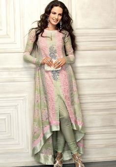anarkali with a front slit...im gonna try sewing this