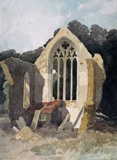 The Refectory at Walsingham Priory by John Sell Cotman