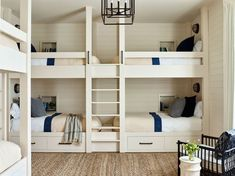 14 Generous Guest Bedrooms and Bunk Rooms - Check out right here bunk bed for small rooms - Bunk Bed Rooms, Bunk Beds Built In, Modern Bunk Beds, Bunk Beds With Stairs, Kids Bunk Beds, Queen Bunk Beds, Custom Bunk Beds, White Bunk Beds, Double Bunk Beds