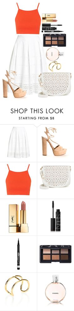 """Untitled #1509"" by fabianarveloc on Polyvore featuring Superdry, Aquazzura, Topshop, Under One Sky, Yves Saint Laurent, NARS Cosmetics, Rimmel, Alexander Wang and Chanel"
