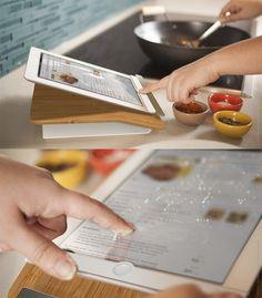 Prep Step - kitchen iPad stand