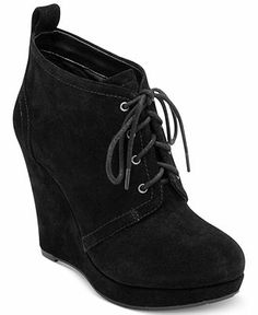 These have been my favorite booties this winter. Jessica Simpson Boots, Catcher Wedge Booties - Shoes - Macy's
