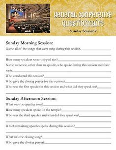 ... Seminary but could be for anyone. List of questions to answer. #lds