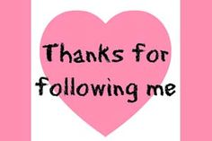 Thanks for following!
