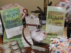 The Swan House and The Dwelling Place (the sequel to The Swan House) are both for sale in The Swan Coach House Gift Shop