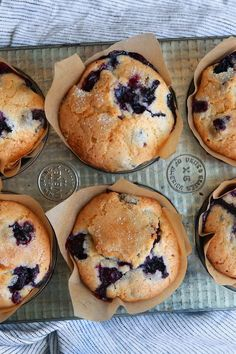 """NYT Cooking: This recipe came to The Times in a 1987 article by Marian Burros, """"The Battle of the Blueberry Muffins."""" Two years prior, Ms. Burros wrote about a recipe for the muffins attributed to the Ritz-Carlton in Boston. The hotel had adapted a recipe Streusel Muffins, Best Blueberry Muffins, Blueberry Recipes, Blue Berry Muffins, Blueberry Cupcakes, Blueberry Muffin Cake, Blueberries Muffins, Bran Muffins, Frozen Blueberries"""