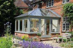 two tone edwardian conservatory doors shut
