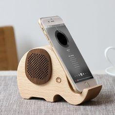 Wooden Elephant Portable Speaker #Elephant, #Portable, #Speaker, #Wood