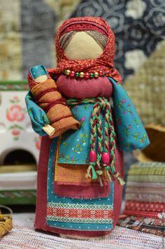Купить Оберег Мамушка - разноцветный, оберег, обереги в подарок, обережная кукла, текстильная кукла