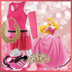 Sleeping Beauty Running Costume. One of these days I will have the time to indulge in the Disney half marathon, and running costumes like this make me even more excited!