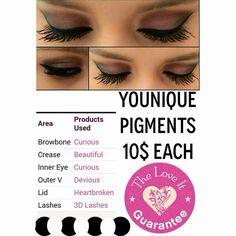 Great pigments $10 each and mascara $29