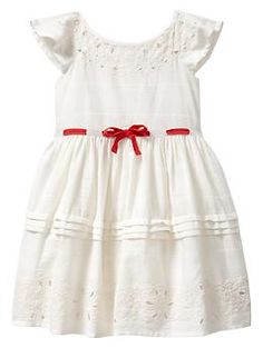 Embroidered bow dress | Gap