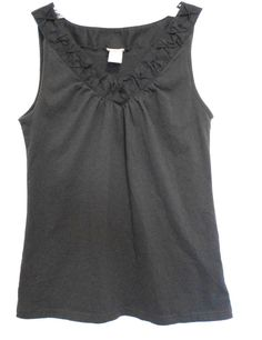 Route 66 Black V Puckered Trim Neck Gathers at Neck Size Small Sleeveless  #Route66 #TankCami #Career