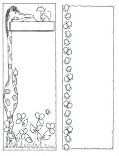 Garden party - Giovanna Scheibner - Picasa Web Albums Coloring Sheets, Coloring Pages, Paper Cutting Patterns, Black And White Stickers, Printable Pictures, Clip Art, Borders And Frames, Printable Crafts, Note Paper
