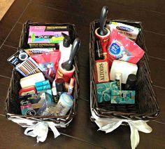 Wedding Bathroom Baskets -- all things katie marie