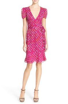 Diane von Furstenberg 'Layton' Floral Print Silk Wrap Dress available at #Nordstrom