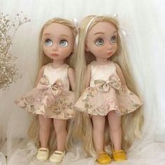 NEW-DISNEY-ANIMATION-DOLL-PRINCESS-SHOT-DRESS-PALE-GOLD-COLOR-COSTUME-HANDMADE