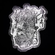 """Pierce Healy, """"Memory Map Brooch."""" Pierce will teach the metals workshop """"Hand Engraving: Pattern & Texture"""" at Penland School of Crafts March 26-April 1, 2017. More information: http://penland.org/classes/spring/spring_1.html"""
