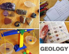 A Geology/Rock station.  A place to illustrate, label, weigh, measure and experiment upon rock samples.  Record findings on station chart/worksheet.