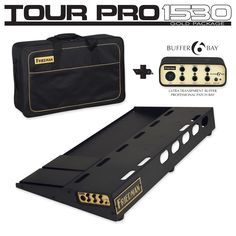 """I 15"""" x 30"""" MADE IN USA PEDAL BOARD WITH RISER AND PROFESSIONAL CARRYING BAG. INCLUDES BUFFER BAY 6 (BUFFER AND PATCH BAY); Dave Friedman has been bui..."""