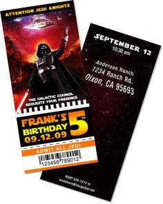 Star Wars themed birthday party invite.