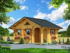 Jaskółka II - Domy drewniane letniskowe - DREWNEX Malaga, Cabin, House Styles, Home Decor, Log Home, Decoration Home, Room Decor, Cabins, Cottage