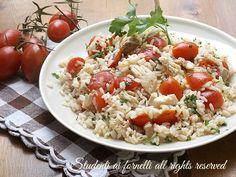 ricetta riso freddo con pollo pomodorini e tonno ricetta primo estivo insalata di riso