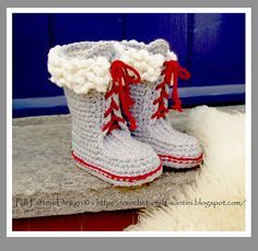 Ravelry: Winter Boots with Fur and Laces pattern by Ingunn Santini