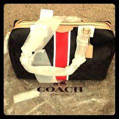 New Brown/Vermillion Coach Purse New Coach bag, brown/vermillion, great price Coach Bags Satchels