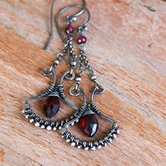 Garnets- I'm not always a huge fan of my birthstone, but these are beautiful