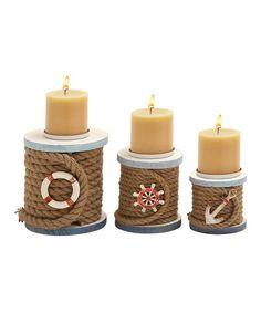 Take a look at this Rope Candleholder Set by UMA Enterprises on #zulily today!