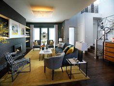 Edgy Urban Oasis in Creative Painting Ideas From HGTV Green Home and Dream Home from HGTV